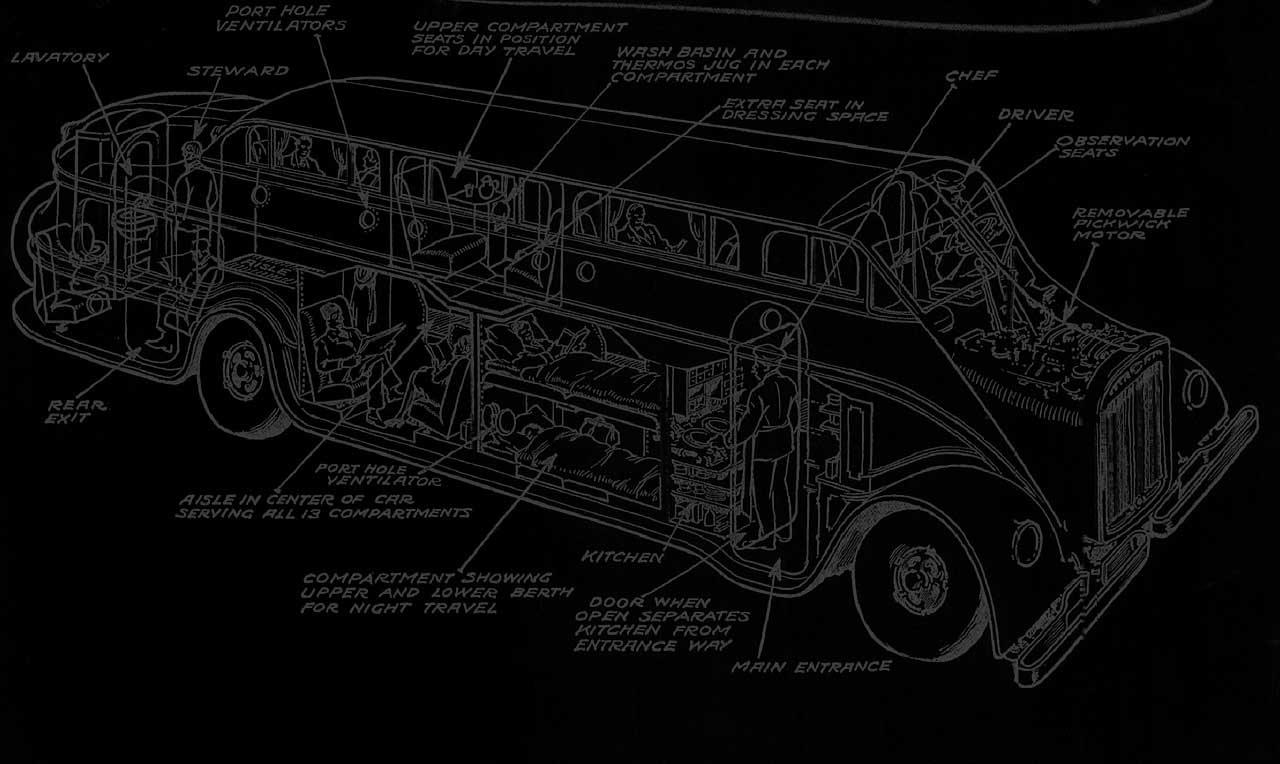 Virtual Bus Tour Schematic Plans