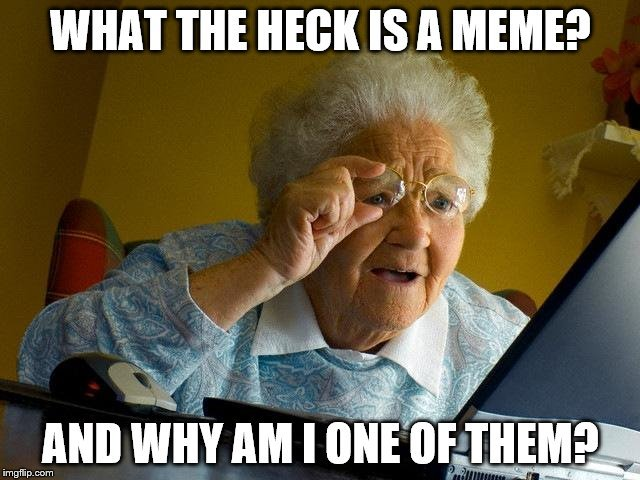 What is a Meme? And Why the heck am I in one (grandma discovers the internet meme)
